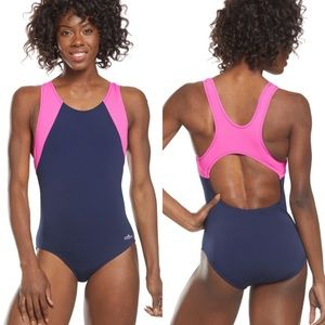 NEW Dolfin Aquashape Navy Bright Pink Swimsuit 16